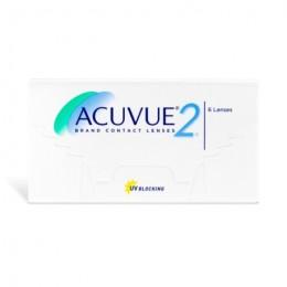 عدسات لاصقة شهرية ACUVUE 2 من جونسون - 6 عدسة في العلبة