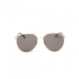 نظارة شمسية,ماركة LAMBORGHINI-Y20, موديل 540-60,للجنسين,افييتور,إطار ذهبي, عدسات بني,خليط معدني