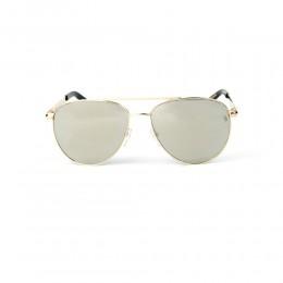 نظارة شمسية,ماركة LAMBORGHINI-Y20, موديل 540-65,للجنسين,افييتور,إطار ذهبي, عدسات ذهبي,خليط معدني