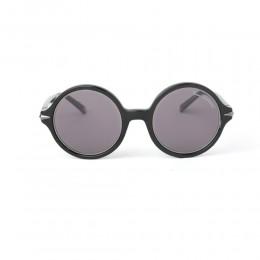 نظارة شمسية,ماركة LAMBORGHINI-Y20, موديل 558-51,للجنسين,مستدير,إطار اسود, عدسات اسود,خليط معدني