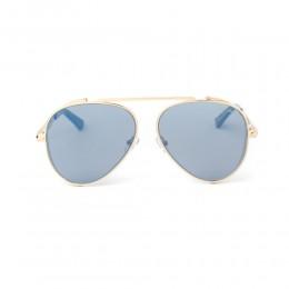 نظارة شمسية,ماركة LAMBORGHINI-Y20, موديل 596-53,للجنسين,افييتور,إطار ذهبي, عدسات الازرق,خليط معدني