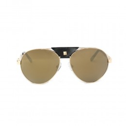 نظارة شمسية,ماركة CHARRIOL, موديل 9019-57-c1,للجنسين,افييتور,إطار ذهبي, عدسات ذهبي,خليط معدني