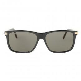 نظارة شمسية,ماركة cartier,موديل CT0160S,للجنسين,مستطيل,اسود,ضد الاشعة فوق البنفسجية,لون العدسة الاخضر,اسيتات