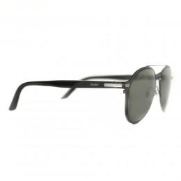 نظارة شمسية,ماركة cartier,موديل CT0212S,للجنسين,افييتور,اسود,ضد الاشعة فوق البنفسجية,لون العدسة رمادي,خليط معدني
