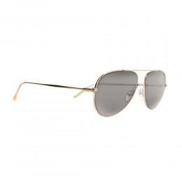 نظارة شمسية,ماركة Tom Ford ,موديل 695,للرجال,افييتور , لون اطار فضي ,عدسة اسود,خليط معدني
