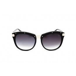 نظارة شمسية ، ماركة CAVALLO BIANCO ، موديل 511 ، نسائي ، لون الإطار أسود ، إطار على شكل فراشة ، مواد خليط معدني ، نوع العدسة حماية من الأشعة فوق البنفسجية ، لون العدسة أسود
