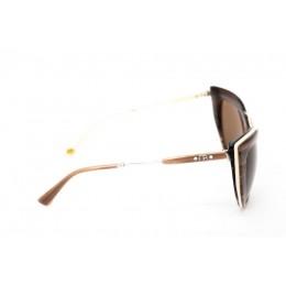 نظارة شمسية ، ماركة CAVALLO BIANCO ، موديل 513 ، للنساء ، لون الإطار بني ، شكل إطار عين القطة ، مواد بلاستيكية ، نوع العدسة حماية من الأشعة فوق البنفسجية ، لون العدسة بني