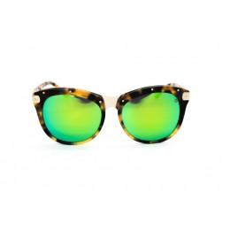 نظارة شمسية ، ماركة CAVALLO BIANCO ، موديل 511 ، للنساء ، لون الاطار متعدد الالوان ، شكل اطار دائري ، الخامات خليط معدني ، نوع العدسة معكوسة ، لون العدسة اخضر