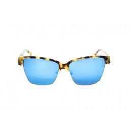 نظارة شمسية ، ماركة CAVALLO BIANCO ، موديل 509 ، للنساء ، لون الإطار ذهبي ، إطار شكل فراشة ، خامات خليط معدني ، نوع العدسة معكوسة ، لون العدسة أزرق