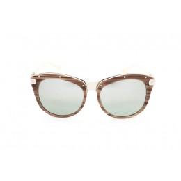 نظارة شمسية ، ماركة CAVALLO BIANCO ، موديل 511 ، نسائي ، لون الإطار بني ، إطار شكل فراشة ، خامات خليط معدني ، نوع العدسة حماية من الأشعة فوق البنفسجية ، لون العدسة أسود