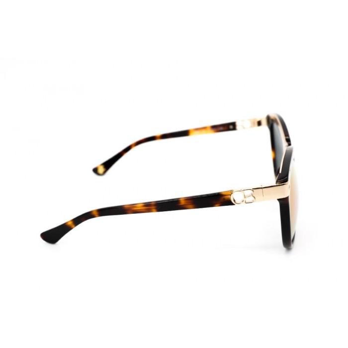 نظارة شمس ، ماركة CAVALLO BIANCO ، موديل 511 ، نسائي ، لون الإطار بني ، شكل الإطار دائري ، الخامات مزيج معدني ، نوع العدسة معكوسة ، لون العدسة ارجواني