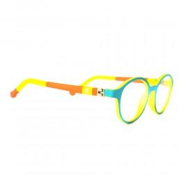 نظارة طبية ,ماركة xy,موديل R4527,للاطفال ,مستدير,مزيج من الالوان,ضد الضباب,لون العدسة شفاف,خليط معدني