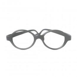 نظارة طبية ,ماركة mira flex,موديل BABY LUX,للاطفال ,مستدير,رمادي,ضد الضباب,لون العدسة شفاف,بلاستيك