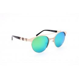 نظارة شمسية ماركة CHARRIOL . موديل 9014-50-C2. عدسات خضراء . عاكسة . خامة متعددة . اطار ذهبي