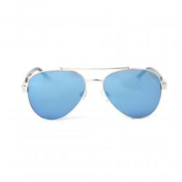 نظارة شمسية,ماركة CHARRIOL, موديل 9010-55-c3,للجنسين,افييتور,إطار فضي, عدسات الازرق,خليط معدني