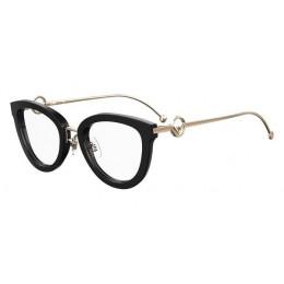 نظارة طبية ,ماركة fendi ,موديل 0417-807,للنساء,عيون القط , لون اطار مزيج من الالوان ,عدسة شفاف,اسيتات ومعدن