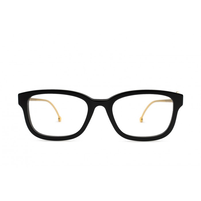 نظارة طبية ,ماركة fendi ,موديل 0418-807,للنساء,مستطيل, لون اطار اسود ,عدسة شفاف,اسيتات ومعدن