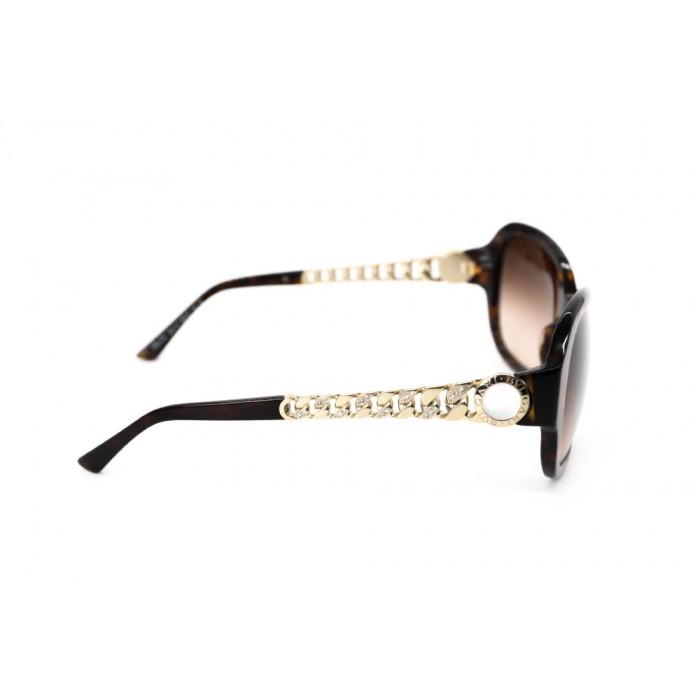 نظارة شمسية ، ماركة BVLGARI ، موديل 8130HB ، نسائي ، لون الإطار بني ، شكل الإطار دائري ، الخامات بلاستيك ، نوع العدسة حماية من الأشعة فوق البنفسجية ، لون العدسة بني