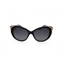 نظارة شمسية ، ماركة BVLGARI ، موديل 8151B ، للنساء ، لون الاطار اسود ، اطار فراشة ، مواد بلاستيكية ، نوع العدسة مستقطبة ، لون العدسة اسود