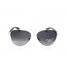 نظارة شمسية ، ماركة BVLGARI  ، موديل 5032TK ، للجنسين ، لون الاطار فضي ، اطار افياتور ، الخامات خليط معدني ، نوع العدسة مستقطبة ، لون العدسة اسود