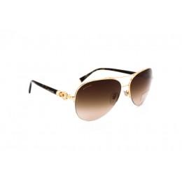 نظارات شمسية ، ماركة بولغري ، موديل 6068K ، للنساء ، لون الاطار ذهبي ، اطار افياتور ، الخامات خليط معدني ، نوع العدسة حماية من الأشعة فوق البنفسجية ، لون العدسة بني