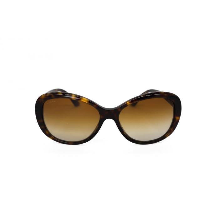 نظارة شمسية ، ماركةBVLGARI ، موديل 8123G ، للنساء ، لون الإطار بني ، شكل الإطار بيضاوي ، الخامات بلاستيك ، نوع العدسة مستقطبة ، لون العدسة بني