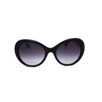 نظارة شمسية ، ماركة BVLGARI ، موديل 8159BQ ، للنساء ، لون الإطار أسود ، شكل إطار دائري ، مواد بلاستيكية ، نوع العدسة حماية من الأشعة فوق البنفسجية ، لون العدسة أسود