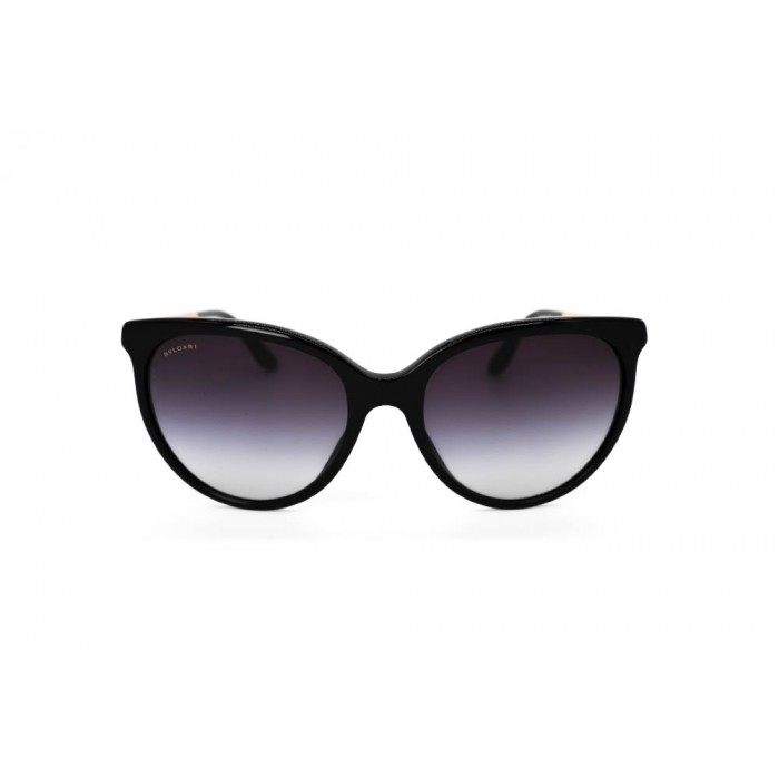 نظارة شمسية ، ماركةBVLGARI ، موديل 8161B ، للنساء ، لون الإطار أسود ، إطار على شكل فراشة ، مواد بلاستيكية ، نوع العدسة حماية من الأشعة فوق البنفسجية ، لون العدسة أسود