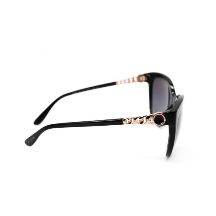 نظارة شمسية ، ماركة BVLGARI ، موديل 8158 ، للنساء ، لون الاطار اسود ، اطار فراشة ، مواد بلاستيكية ، نوع العدسة مستقطبة ، لون العدسة اسود