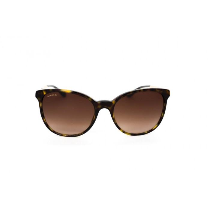 نظارة شمسية ، ماركة BVLGARI ، موديل 8160B ، نسائي ، لون الإطار بني ، إطار شكل فراشة ، مواد بلاستيكية ، نوع العدسة حماية من الأشعة فوق البنفسجية ، لون العدسة بني