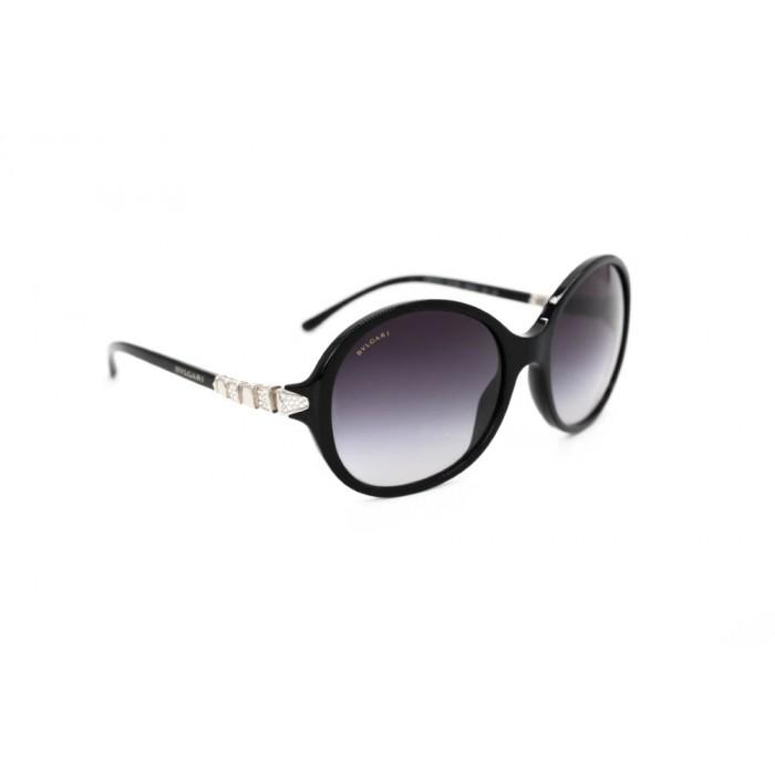 نظارة شمسية ، ماركة BVLGARI ، موديل 8140B ، للنساء ، لون الإطار أسود ، شكل الإطار دائري ، الخامات بلاستيك ، نوع العدسة للحماية من الأشعة فوق البنفسجية ، لون العدسة بنفسجي