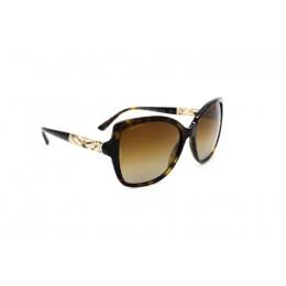 نظارة شمسية ، ماركة BVLGARI ، موديل 8174B ، للنساء ، لون الإطار بني ، إطار شكل فراشة ، مواد بلاستيكية ، نوع العدسة حماية من الأشعة فوق البنفسجية ، لون العدسة بني