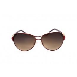 نظارة شمس ، ماركة CAVALLO BIANCO ، موديل 8912 ، نسائي ، لون الإطار أحمر ، إطار طيار ، خامات خليط معدني ، نوع العدسة حماية من الأشعة فوق البنفسجية ، لون العدسة بني