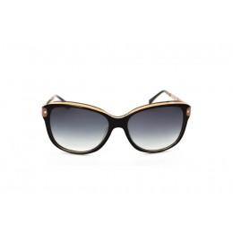 نظارة شمسية ، ماركة CAVALLO BIANCO ، موديل 8914 ، للنساء ، لون الإطار بني ، إطار على شكل فراشة ، مواد بلاستيكية ، نوع العدسة للحماية من الأشعة فوق البنفسجية ، لون العدسة أسود