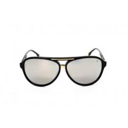نظارة شمس ، ماركة CAVALLO BIANCO ، موديل 503 ، للجنسين ، لون الاطار اسود ، اطار طيار ، خامات بلاستيك ، نوع العدسة معكوسة ، لون العدسة فضي