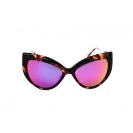 نظارة شمسية ، ماركة CAVALLO BIANCO ، موديل 513 ، للنساء ، لون الاطار بني ، شكل اطار عين القطة ، مواد بلاستيكية ، نوع العدسة معكوسة ، لون العدسة ارجواني