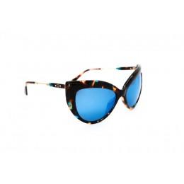 نظارة شمسية ، ماركة CAVALLO BIANCO ، موديل 513 ، للنساء ، لون الاطار بني ، شكل اطار عين القطة ، مواد بلاستيكية ، نوع العدسة معكوسة ، لون العدسة ازرق