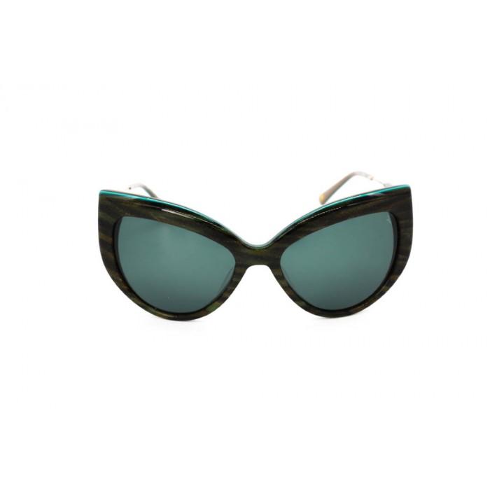 نظارة شمسية ، ماركة CAVALLO BIANCO ، موديل 513 ، للنساء ، لون الإطار متعدد الألوان ، شكل إطار عين القطة ، مواد بلاستيكية ، نوع العدسة حماية من الأشعة فوق البنفسجية ، لون العدسة أسود