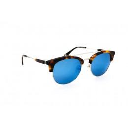 نظارة شمس ، ماركة CAVALLO BIANCO ، موديل 505 ، للجنسين ، لون الاطار ذهبي ، شكل الاطار دائري ، الخامات خليط معدني ، نوع العدسة معكوسة ، لون العدسة ازرق