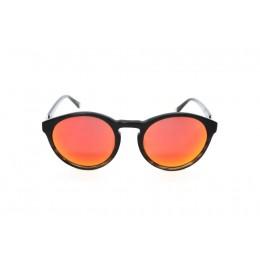 نظارة شمس ، ماركة CAVALLO BIANCO ، موديل 501 ، للجنسين ، لون الاطار بني ، شكل الاطار دائري ، الخامات بلاستيك ، نوع العدسة معكوسة ، لون العدسة احمر