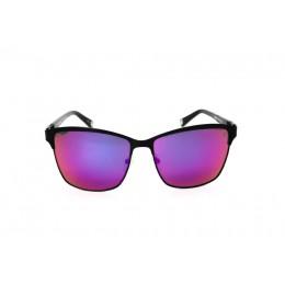 نظارة شمس ، ماركة CAVALLO BIANCO ، موديل 512 ، نسائي ، لون الإطار أسود ، إطار شكل Wayfare ، خامات خليط معدني ، نوع العدسة معكوسة ، لون العدسة ارجواني