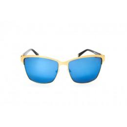 نظارة شمسية ، ماركة CAVALLO BIANCO ، موديل 512 ، نسائي ، لون الإطار ذهبي ، إطار شكل Wayfare ، خامات مزيج معدني ، نوع العدسة معكوسة ، لون العدسة أزرق