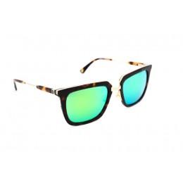 نظارة شمس ، ماركة CAVALLO BIANCO ، موديل 506 ، نسائي ، لون الإطار بني ، شكل الإطار مربع ، الخامات مزيج معدني ، نوع العدسة معكوسة ، لون العدسة أخضر