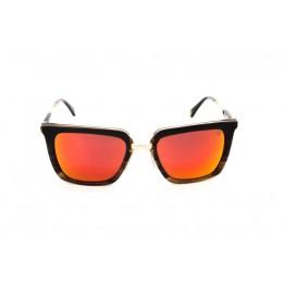 نظارة شمس ، ماركة CAVALLO BIANCO ، موديل 506 ، نسائي ، لون الاطار بني ، شكل الاطار مستطيل ، الخامات خليط معدني ، نوع العدسة معكوسة ، لون العدسة احمر