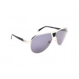 نظارة شمسية ، ماركة CAVALLO BIANCO ، موديل 502 ، للنساء ، لون الإطار فضي ، إطار على شكل طيار ، مواد خليط معدني ، نوع العدسة حماية من الأشعة فوق البنفسجية ، لون العدسة أسود