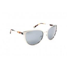 نظارة شمسية ، ماركة CAVALLO BIANCO ، موديل 514 ، للنساء ، لون الإطار فضي ، شكل إطار عين القطة ، الخامات خليط معدني ، نوع العدسة معكوسة ، لون العدسة فضي