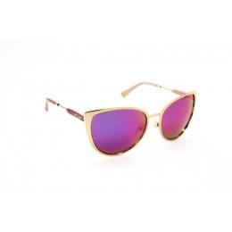 نظارة شمسية ، ماركة CAVALLO BIANCO ، موديل 514 ، للنساء ، لون الإطار ذهبي ، شكل الإطار عين القطة ، الخامات خليط معدني ، نوع العدسة معكوسة ، لون العدسة ارجواني