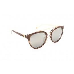 نظارة شمس ، ماركة CAVALLO BIANCO ، موديل 510 ، نسائي ، لون الاطار بني ، شكل الاطار دائري ، الخامات بلاستيك ، نوع العدسة معكوسة ، لون العدسة فضي