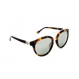 نظارة شمسية ، ماركة CAVALLO BIANCO ، موديل 510 ، للنساء ، لون الإطار بني ، شكل الإطار دائري ، الخامات البلاستيكية ، نوع العدسة للحماية من الأشعة فوق البنفسجية ، لون العدسة أسود