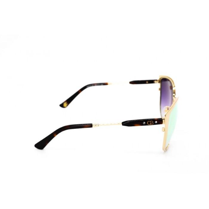 نظارة شمسية ، ماركة CAVALLO BIANCO ، موديل 514 ، للنساء ، لون الإطار ذهبي ، شكل الإطار عين القطة ، الخامات خليط معدني ، نوع العدسة معكوسة ، لون العدسة ذهبي